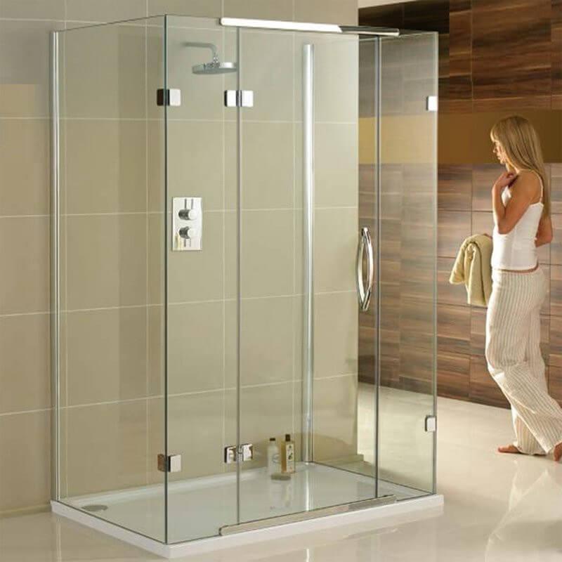 1600 x 800 mm háromoldalas zuhanykabin soros pántos zuhanyajtóból