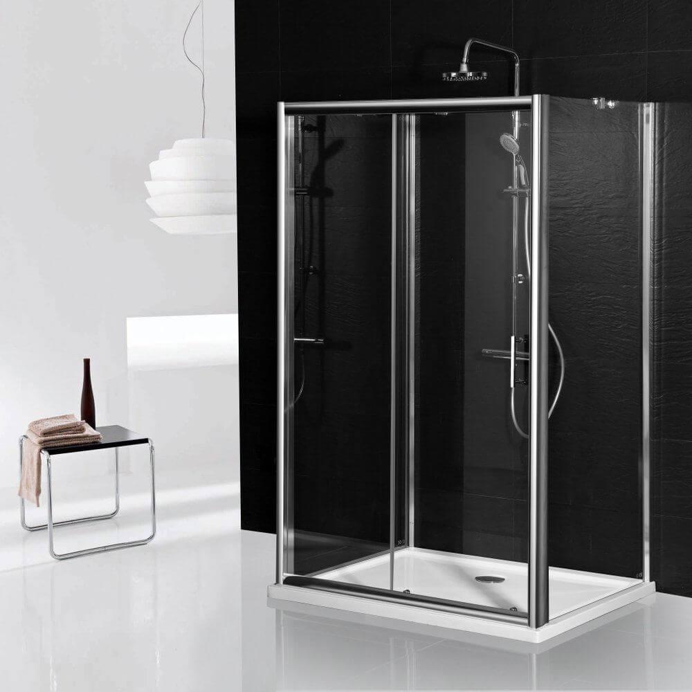 3 oldalú csúszó zuhanyajtó 1000 x 1850 mm magas