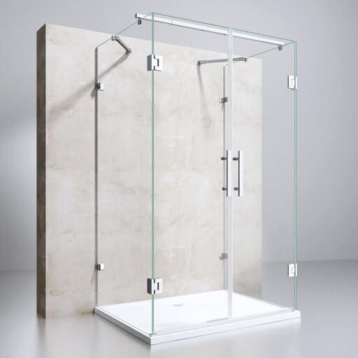 Egyenes falsíkra szerelhető zuhanykabin